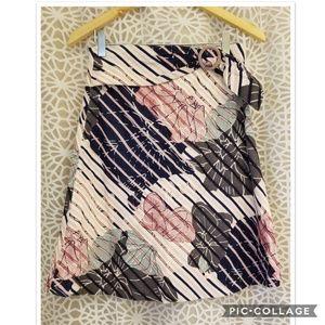 Anthropologie Odille Floral A-Line Skirt